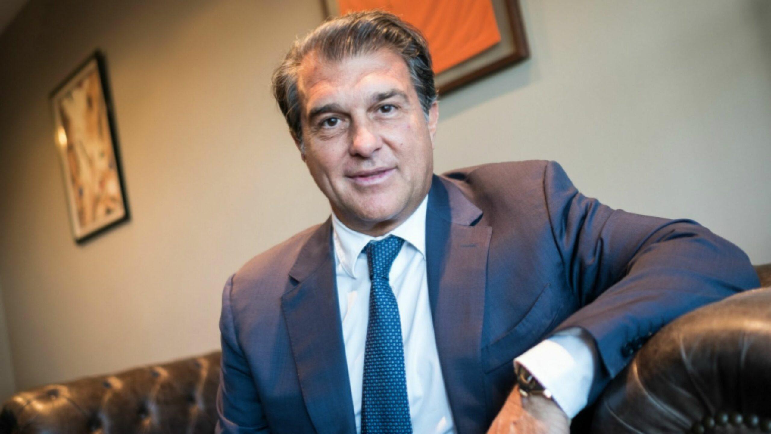 Joan Laporta, durant una entrevista a Món Esport | Jordi Borràs
