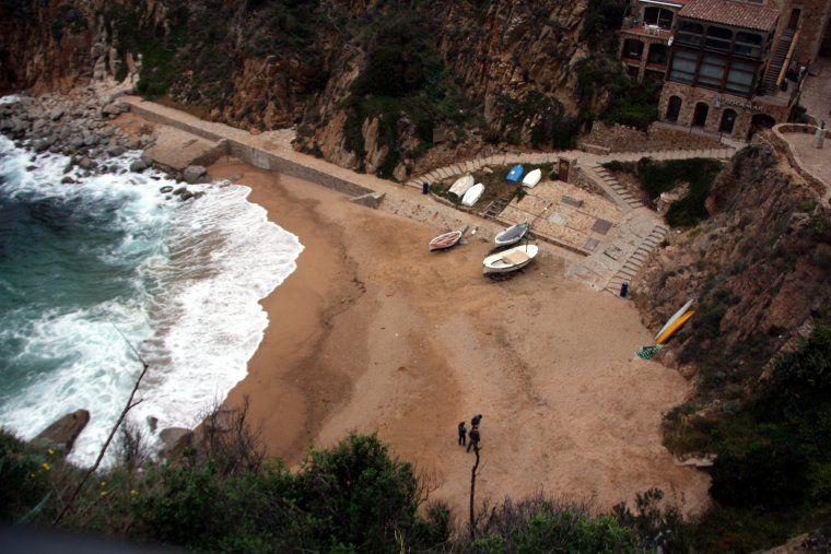 Imatge de la platja d'Es Codolar de Tossa de Mar