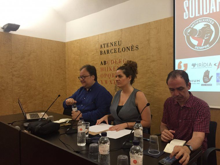 D'esquerra a dreta: Ferran Casas, Carla Vall i Francesc Canosa