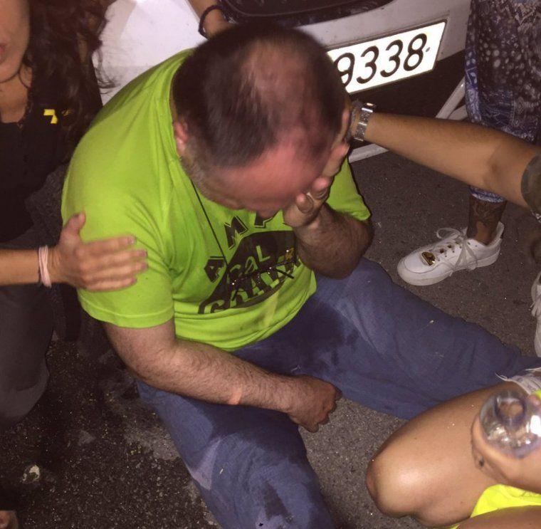 Un home ferit per un espanyolista