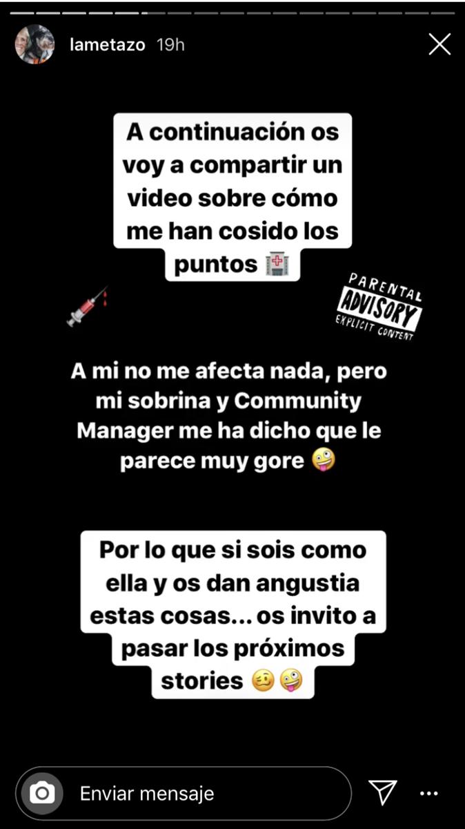 Mercedes Milá ingressa a l'hospital  Instagram