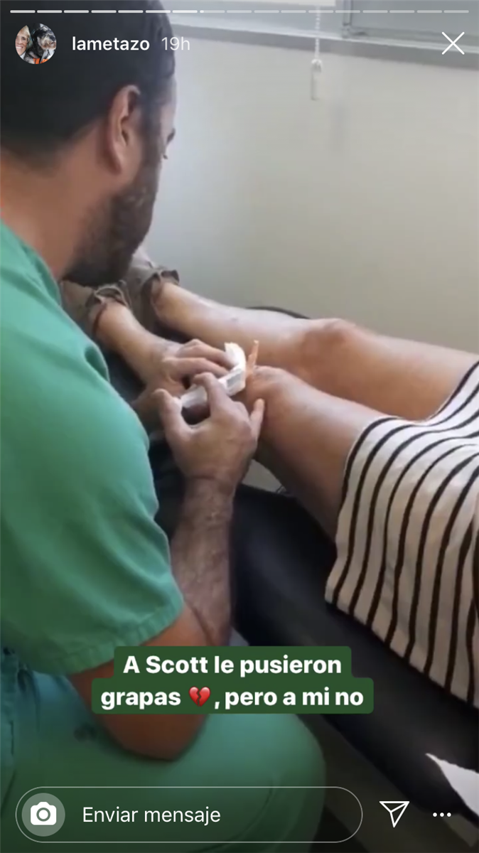 Mercedes Milá a l'hospital  Instagram