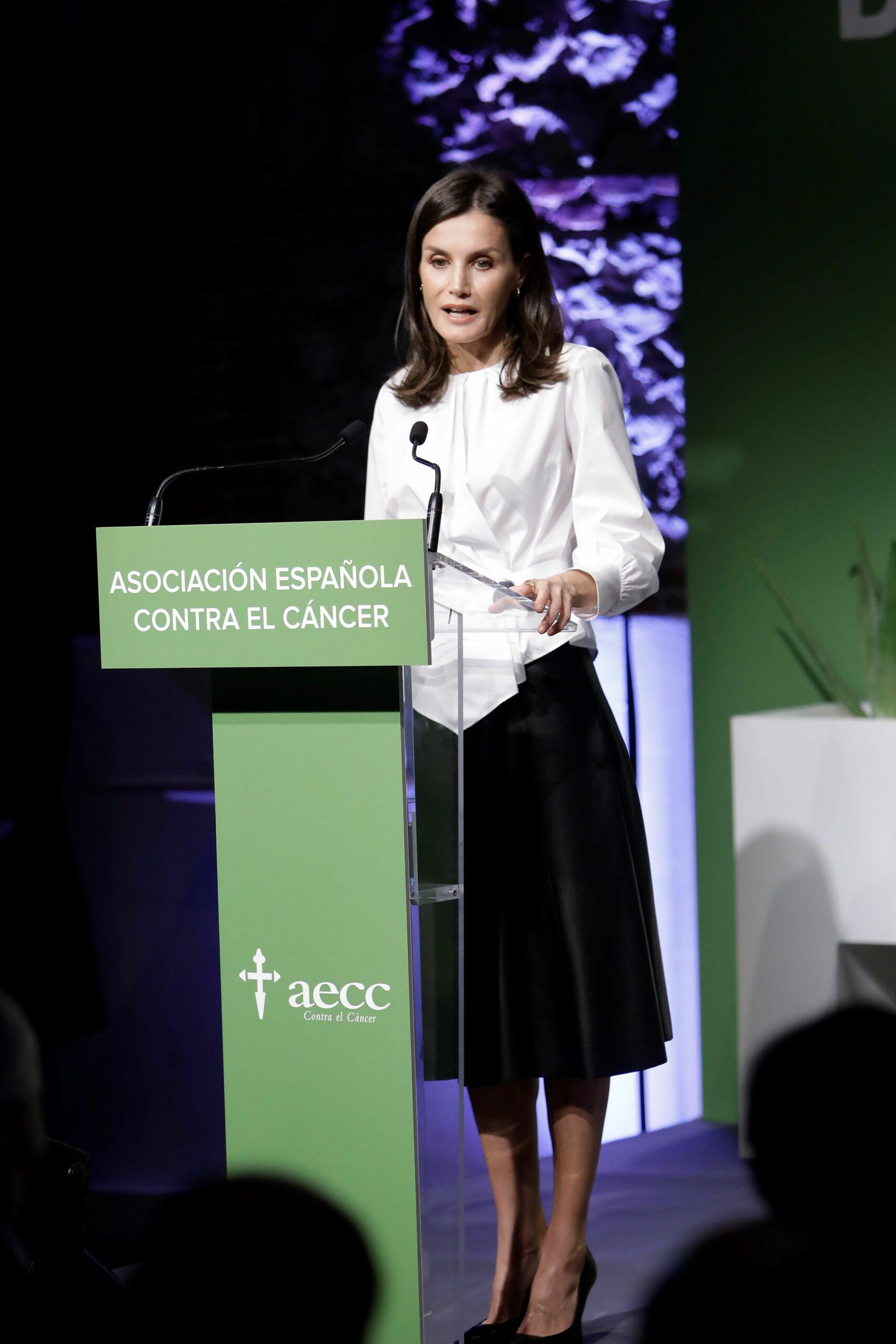 Discurs de la reina Letícia durant un fòrum contra el càncer   Europa Press