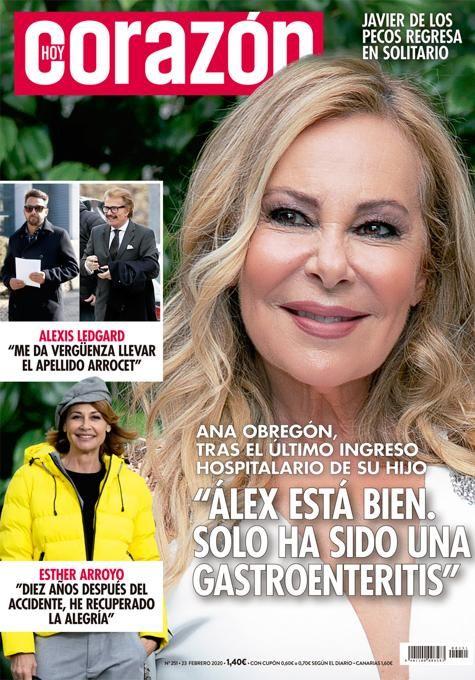 Ana Obregón a la portada de 'Hoy Corazón'