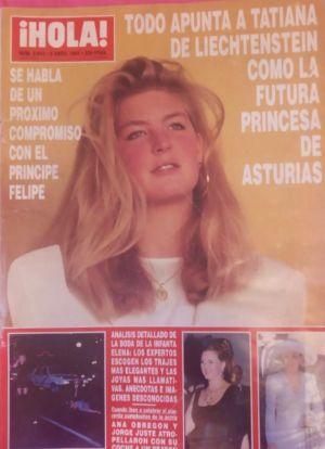 Tatiana de Liechtenstein a la portada de la '¡Hola!'