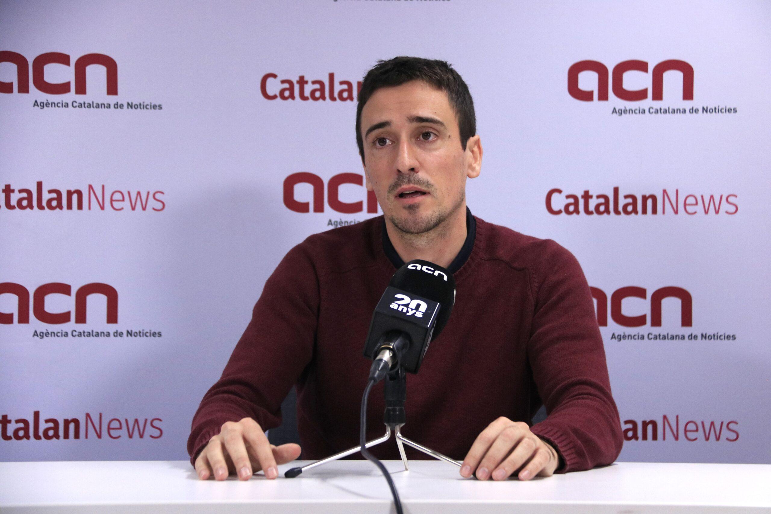 El cap de llista de Més País a Barcelona, JuJuan Antonio Geraldes, coordinador general de Més País Catalunya (ACN)an Antonio Geraldes