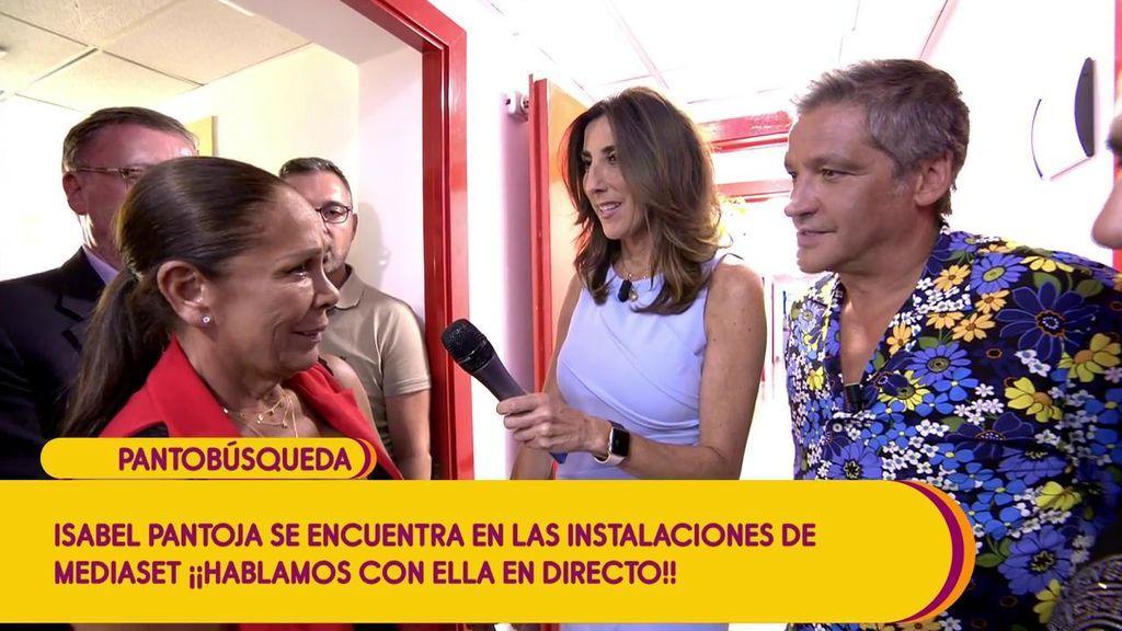 Isabel Pantoja parla amb els col·laboradors de 'Sálvame'   Telecinco