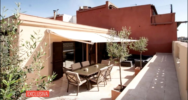 Una de les terrasses del pis d'Ángela   Telecinco