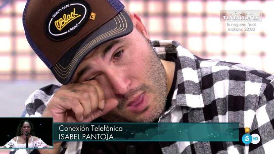 Kiko Rivera plora durant la trucada de la mare   Telecinco