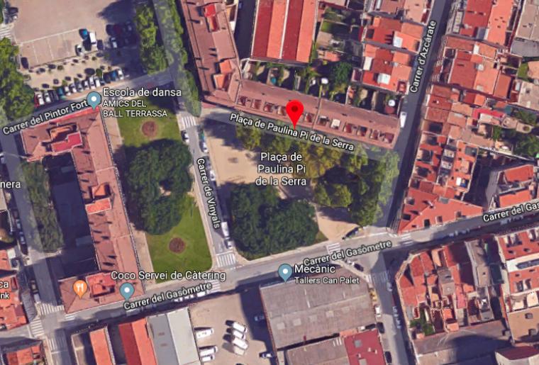 La plaça Paulina Pi de la Serra al segle XX
