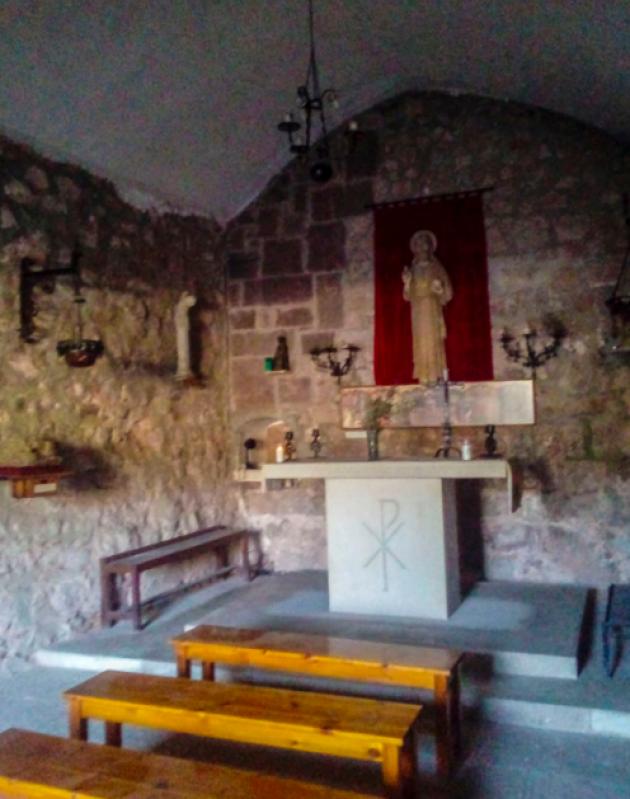 Interior de la capella