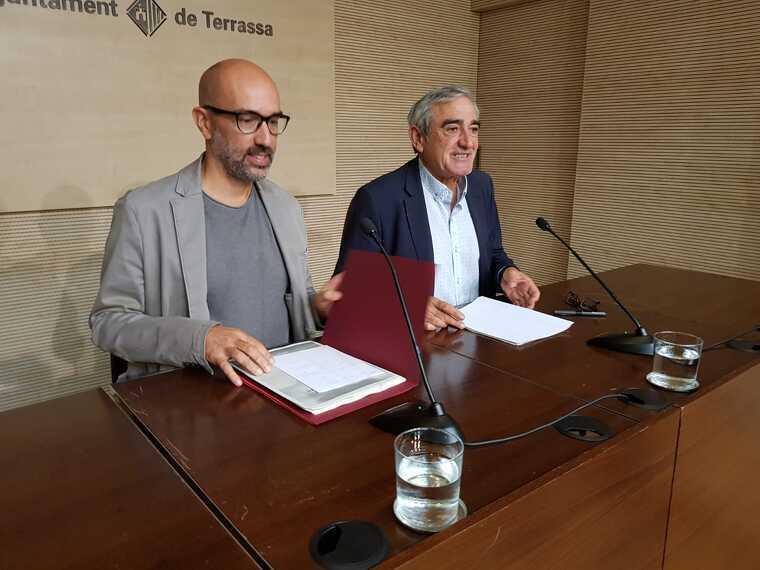 Marc Armengol i Alfredo Vega, portaveu i president del PSC a Terrassa
