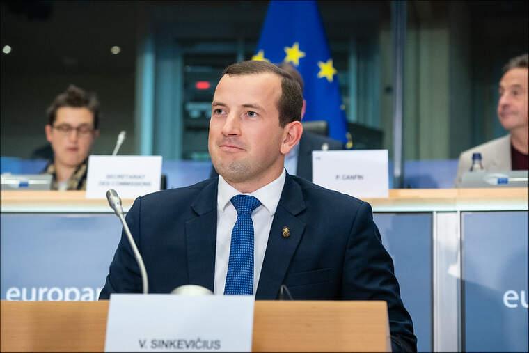Elcomissari de Medi Ambient, Oceans i Pesca de la UE,Virginijus Sinkevičius