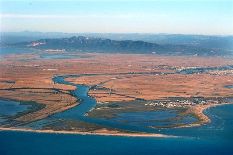 Imatge aèria del delta de l'Ebre