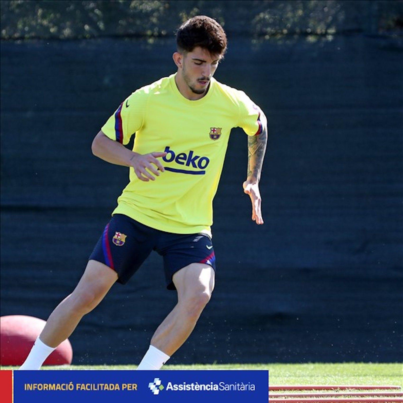Monchu, durant un entrenament | FC Barcelona
