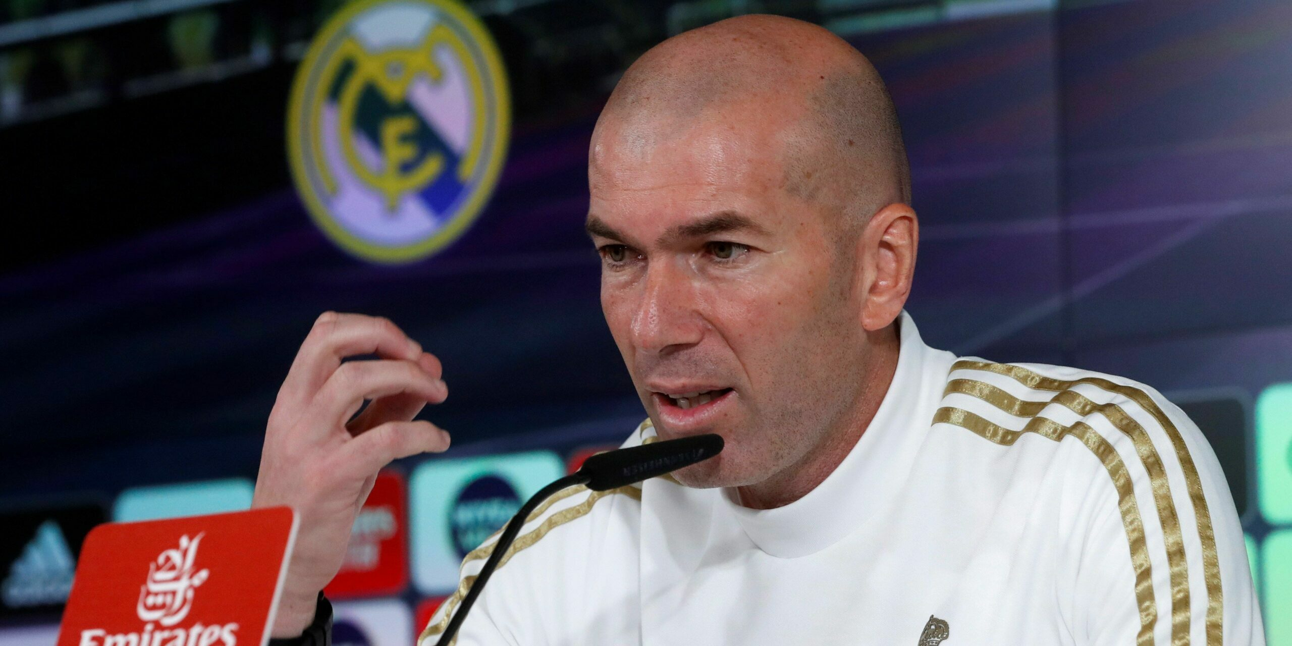 Zidane, en roda de premsa   EFE