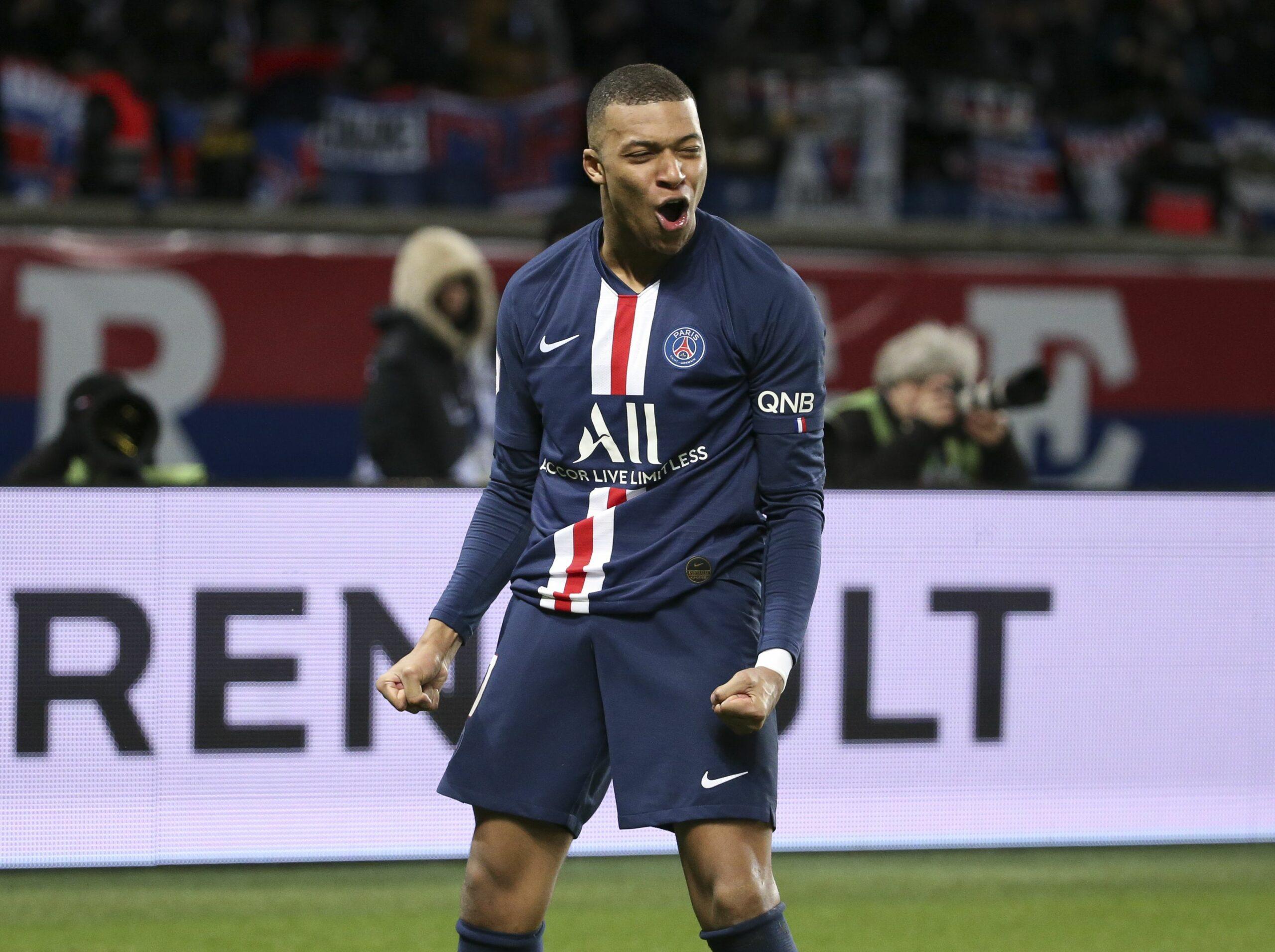 Kylian Mbappé celebra un gol amb la samarreta del PSG | Europa Press