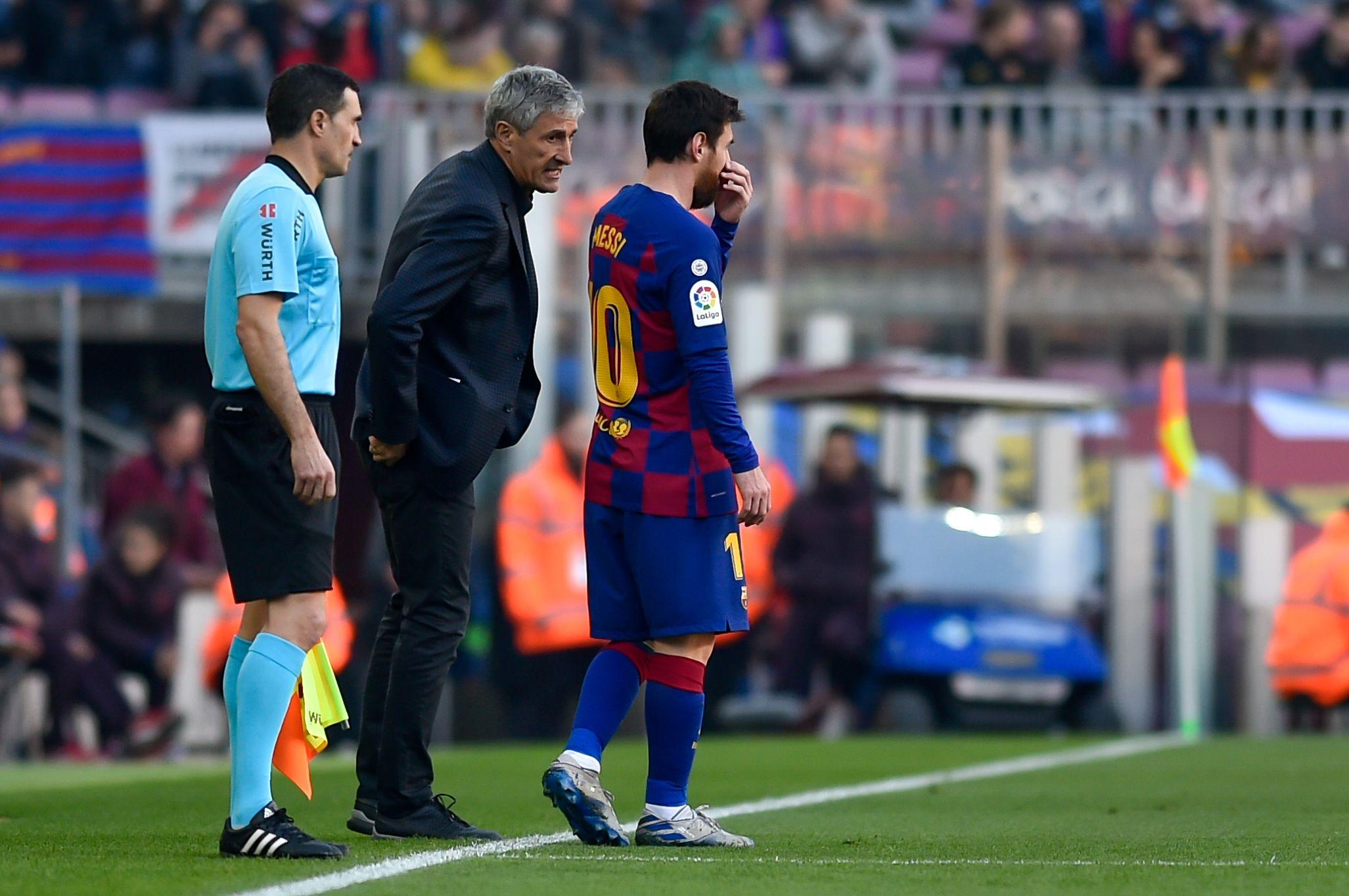 Setién i Messi, durant un partit | Europa Press