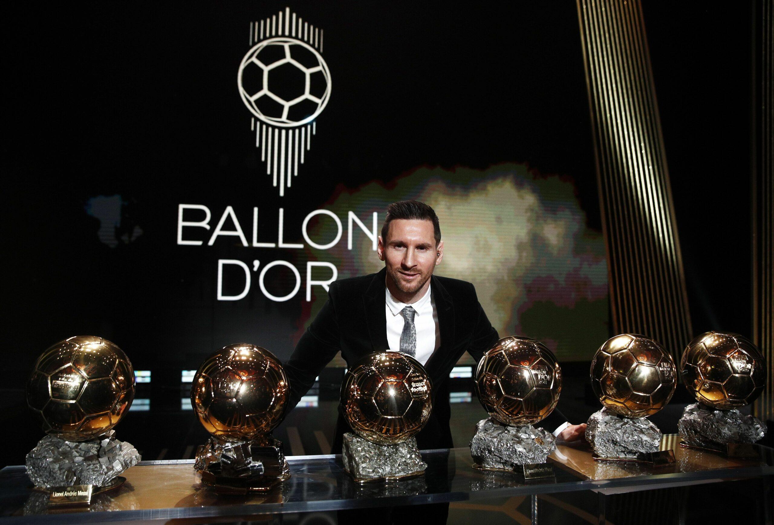 Leo Messi, amb les seves sis Pilotes d'Or | EFE