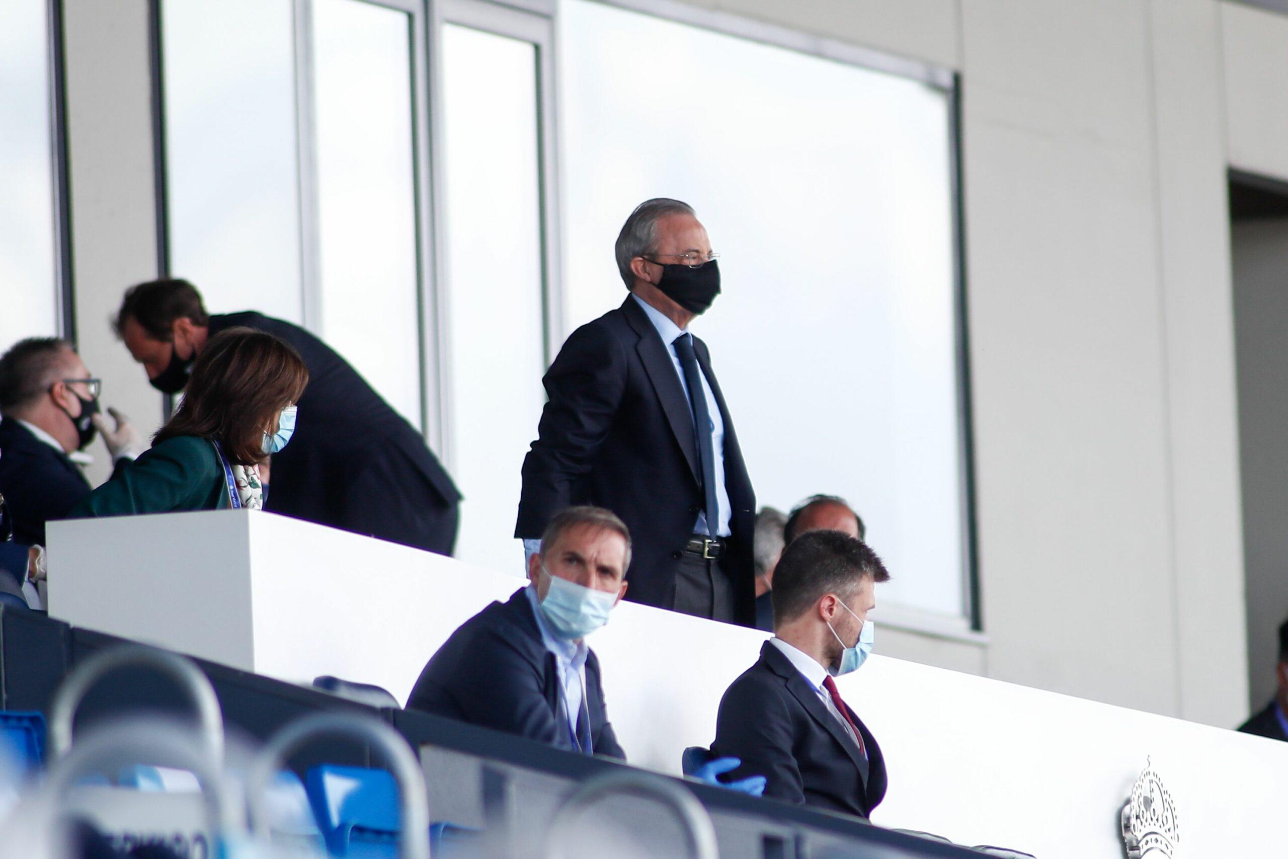 Florentino Pérez, durant un partit del Madrid | Europa Press