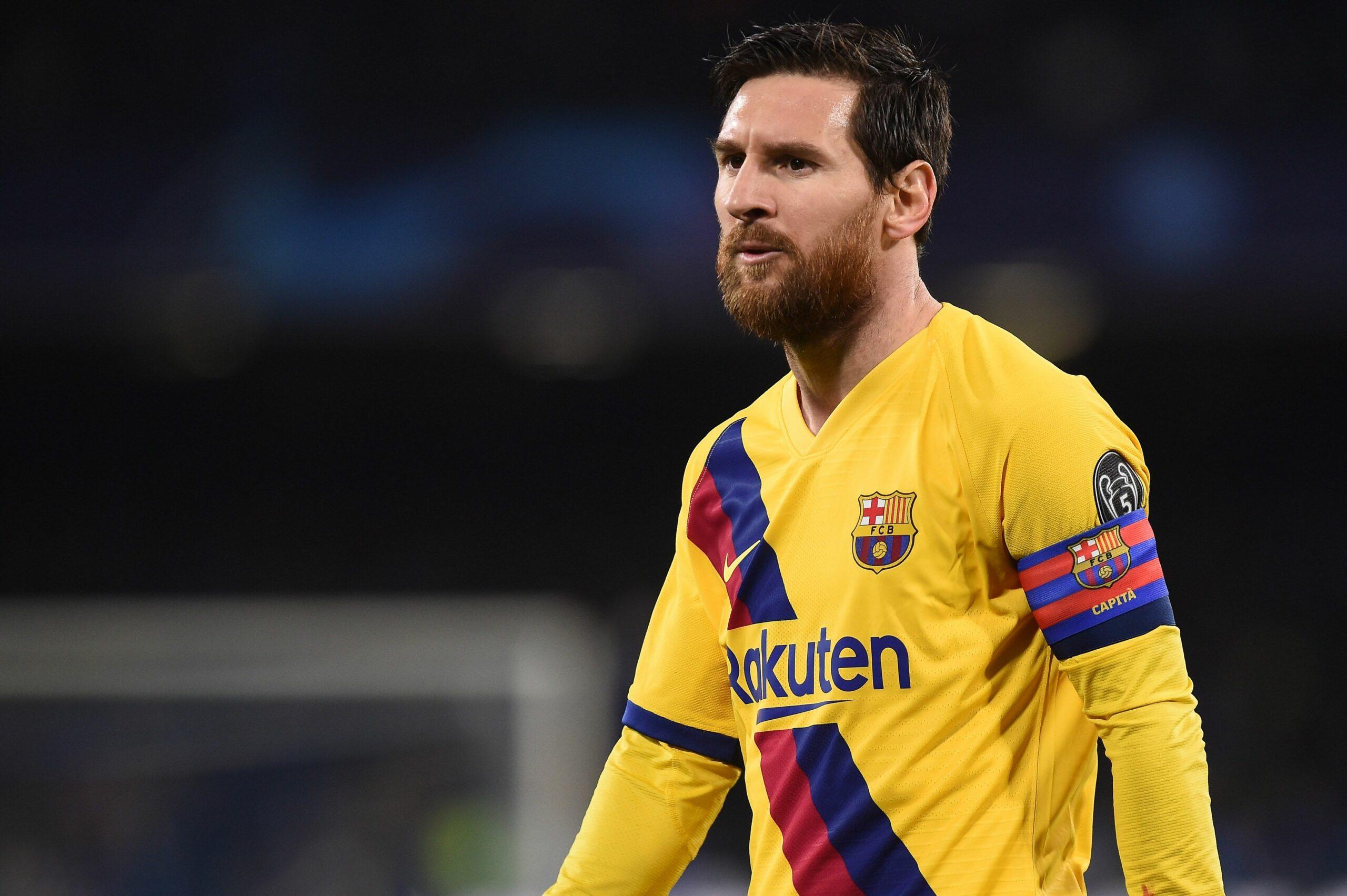 Messi, durant un partit de Champions   Europa Press