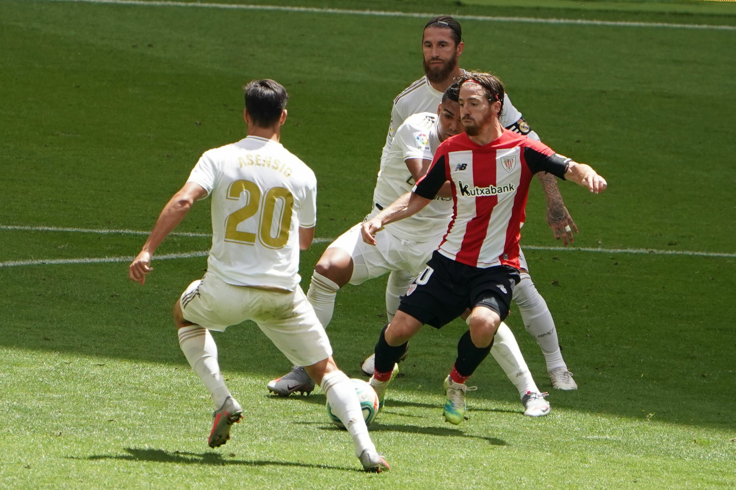 Muniain, amb Casemiro, Asensio i Ramos | Europa Press