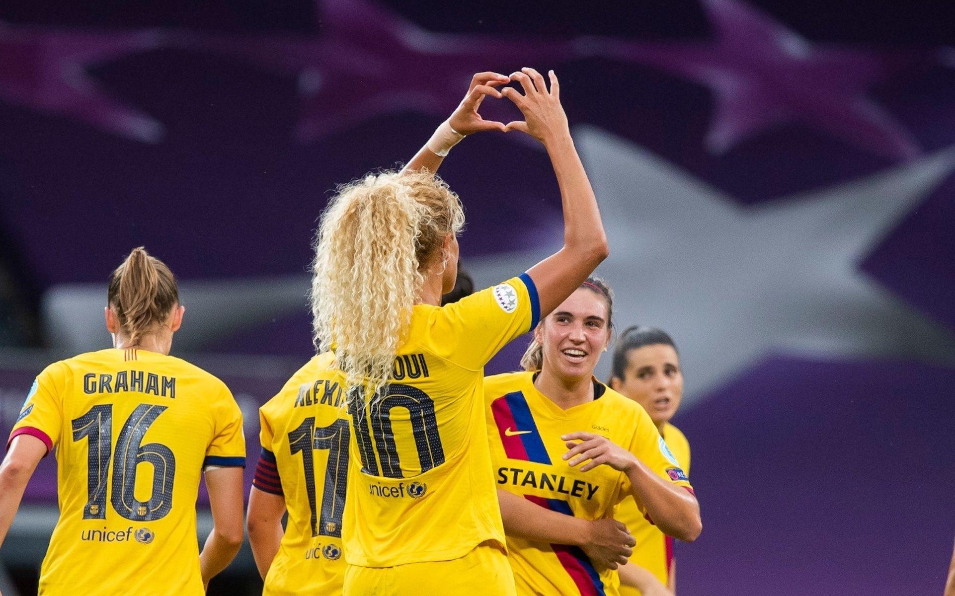 Hamraoui celebra el seu gol contra l'Atlètic de Madrid | FC Barcelona