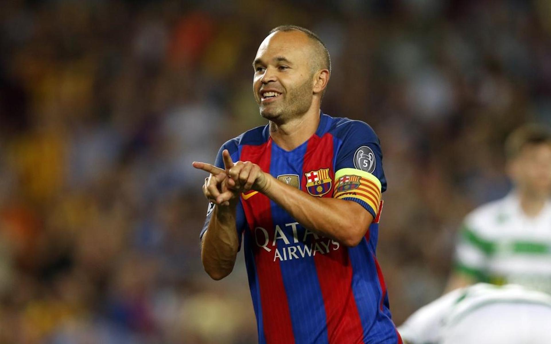 Iniesta, durant un partit | FC Barcelona