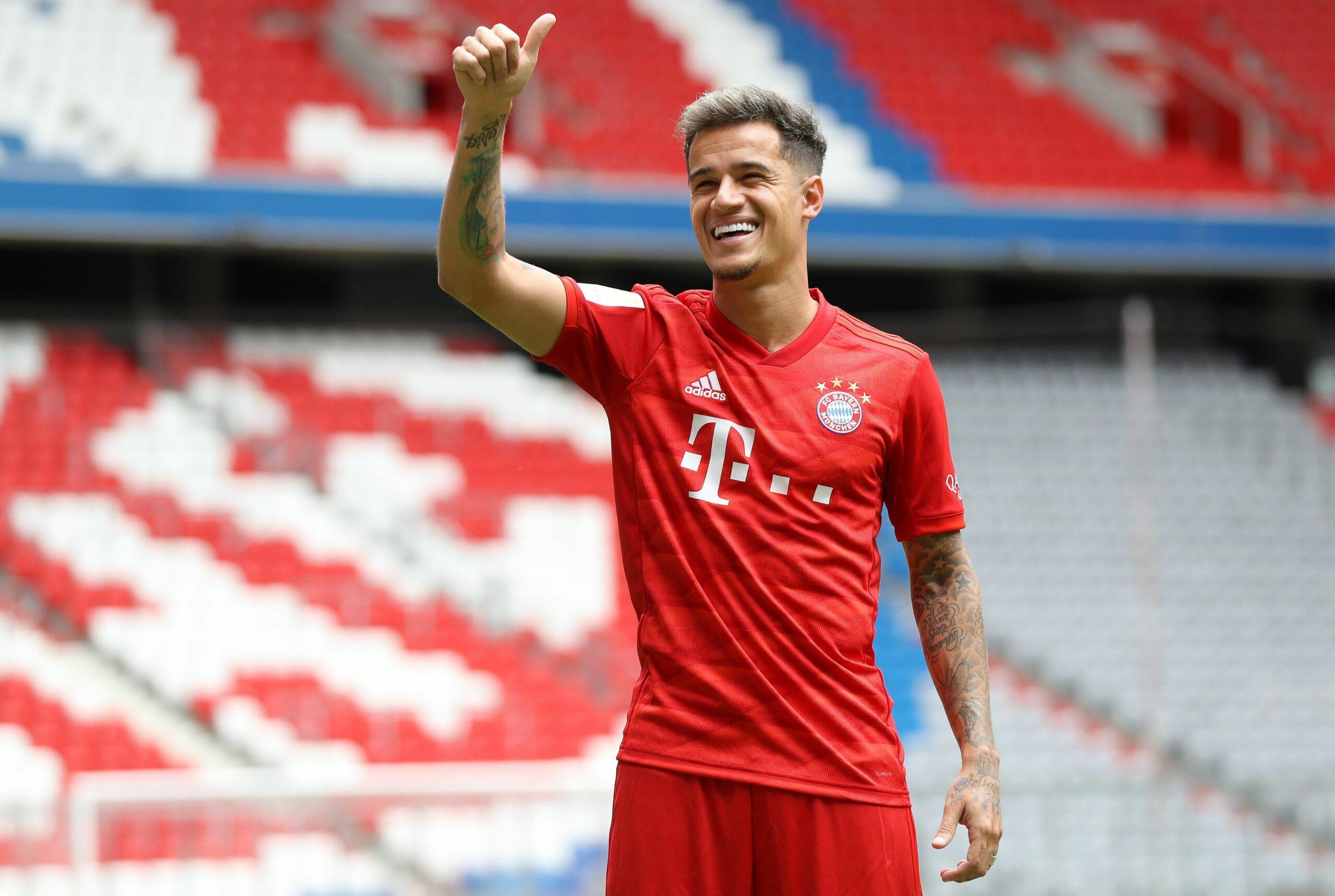 Coutinho, durant la seva presentació amb el Bayern | FC Bayern
