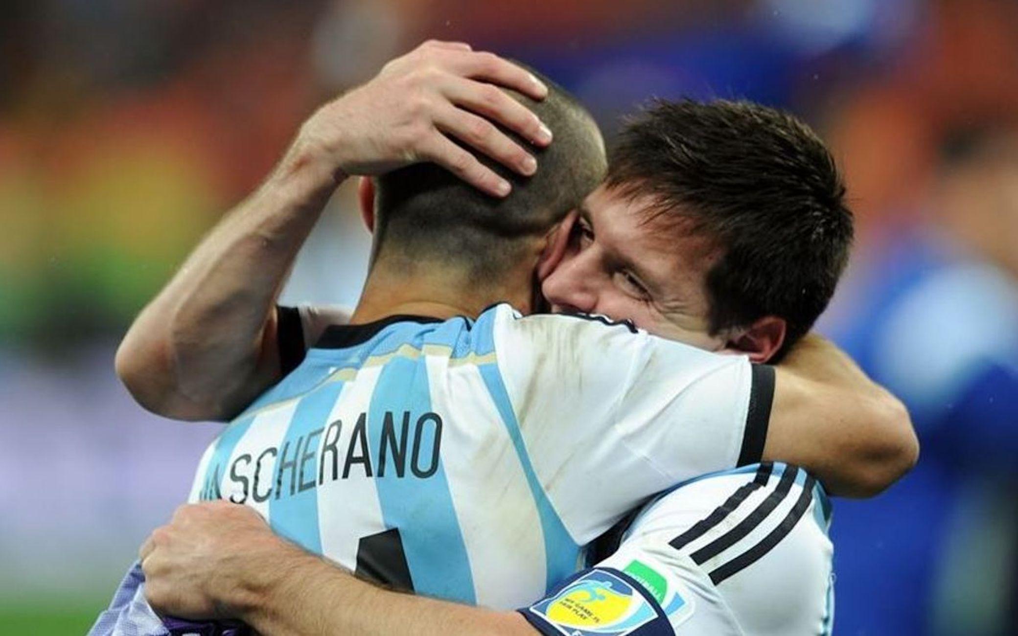 Messi i Mascherano, durant un partit de la selecció argentina | FC Barcelona