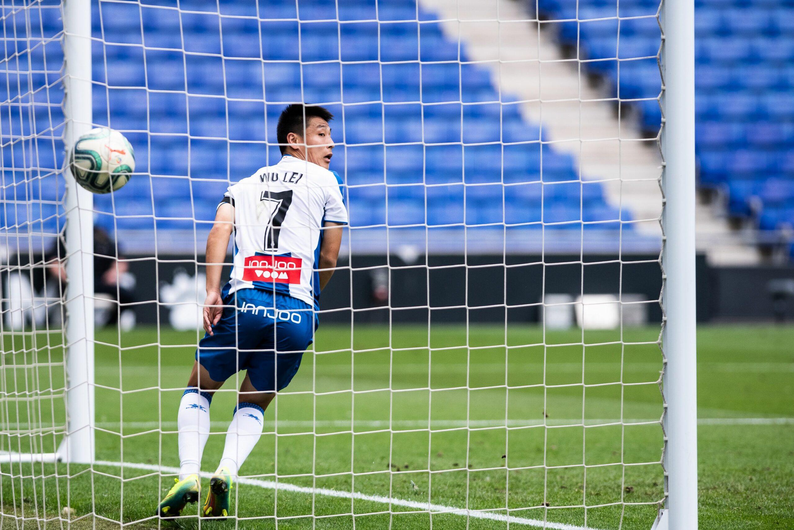 Wu Lei celebra un gol amb la samarreta de l'Espanyol   Europa Press