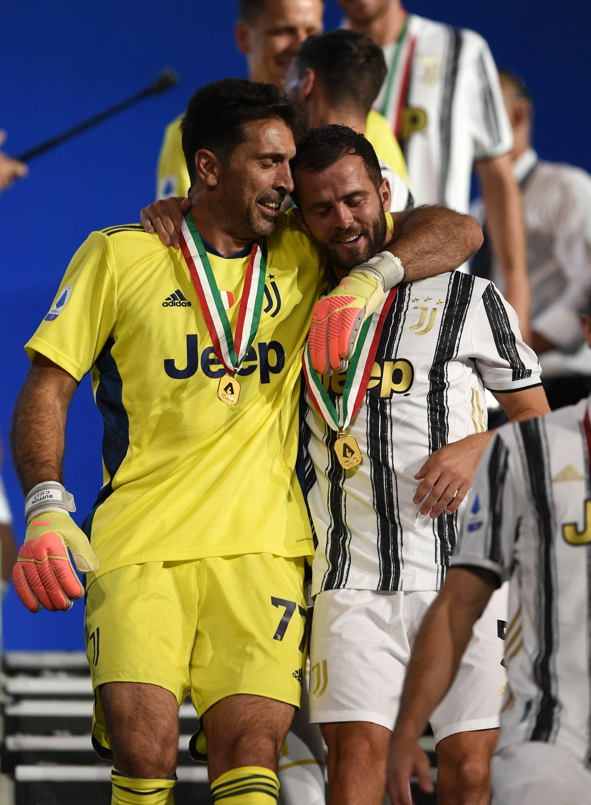 Pjanic i Buffon | @Miralem_Pjanic