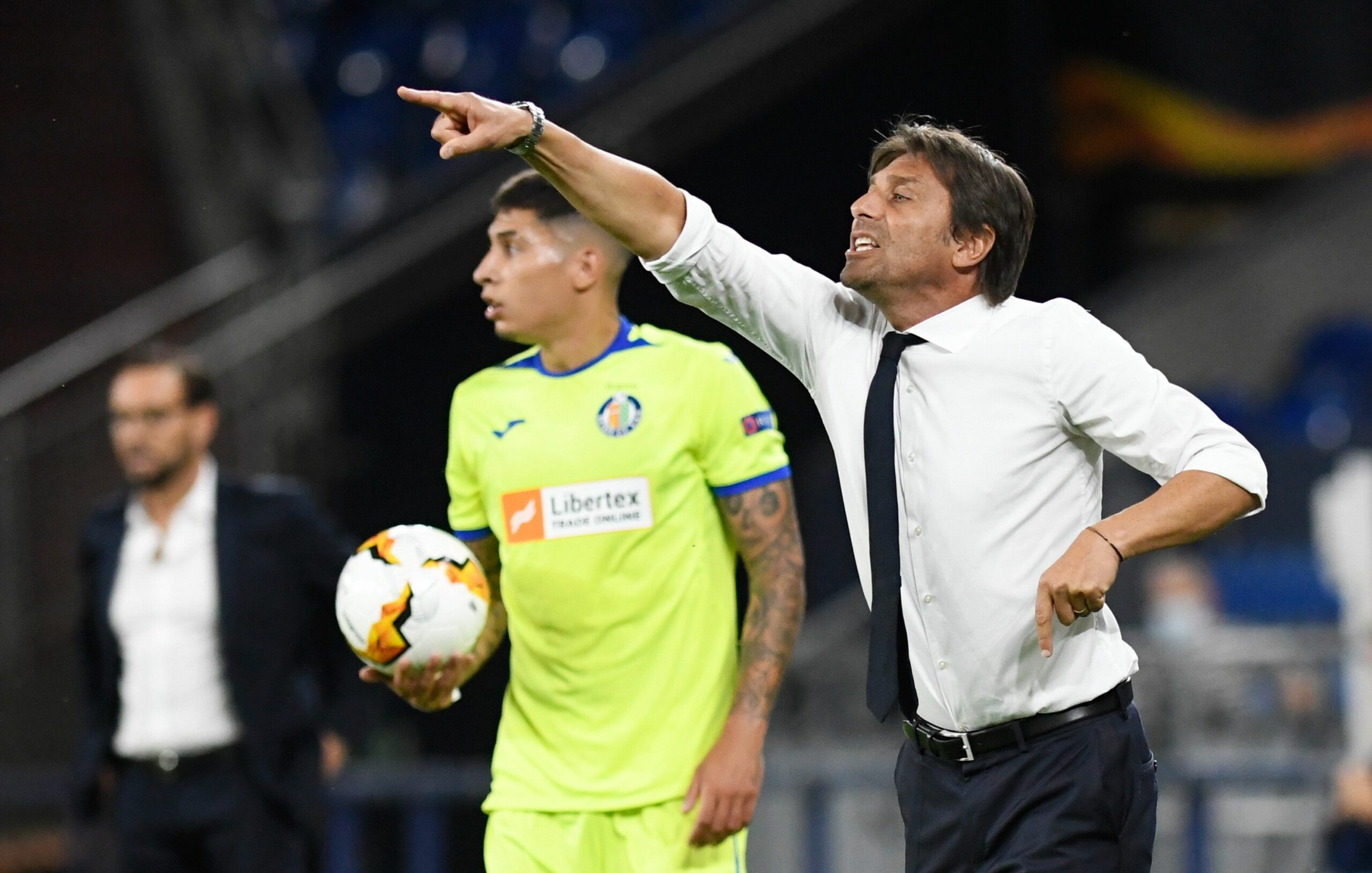 Antonio Conte, entrenador de l'Inter, durant el duel contra el Getafe | Europa Press