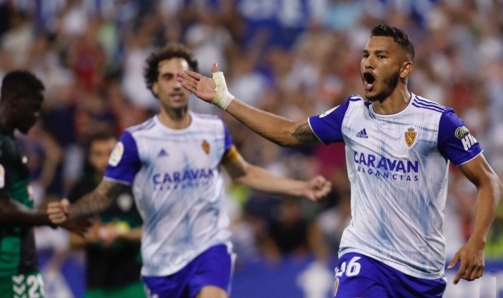 Luis Suárez celebra un gol amb el Saragossa | Europa press