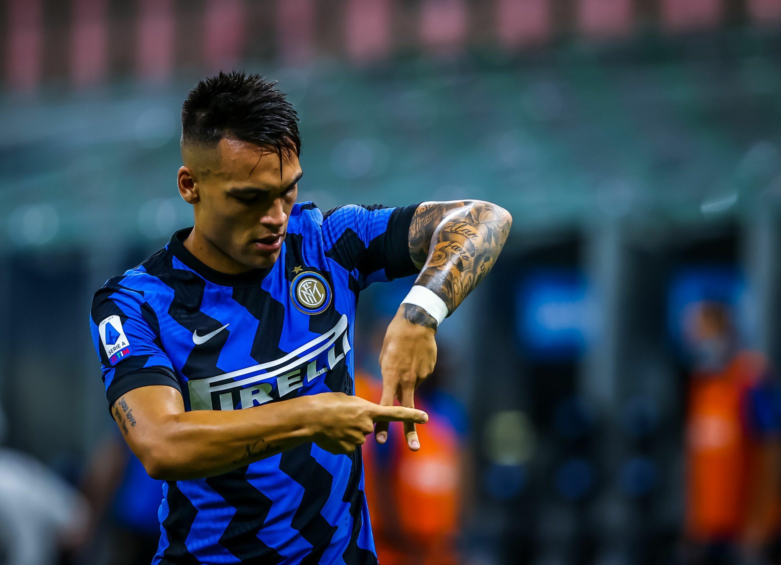 Lautaro Martínez celebra un gol | Europa Press