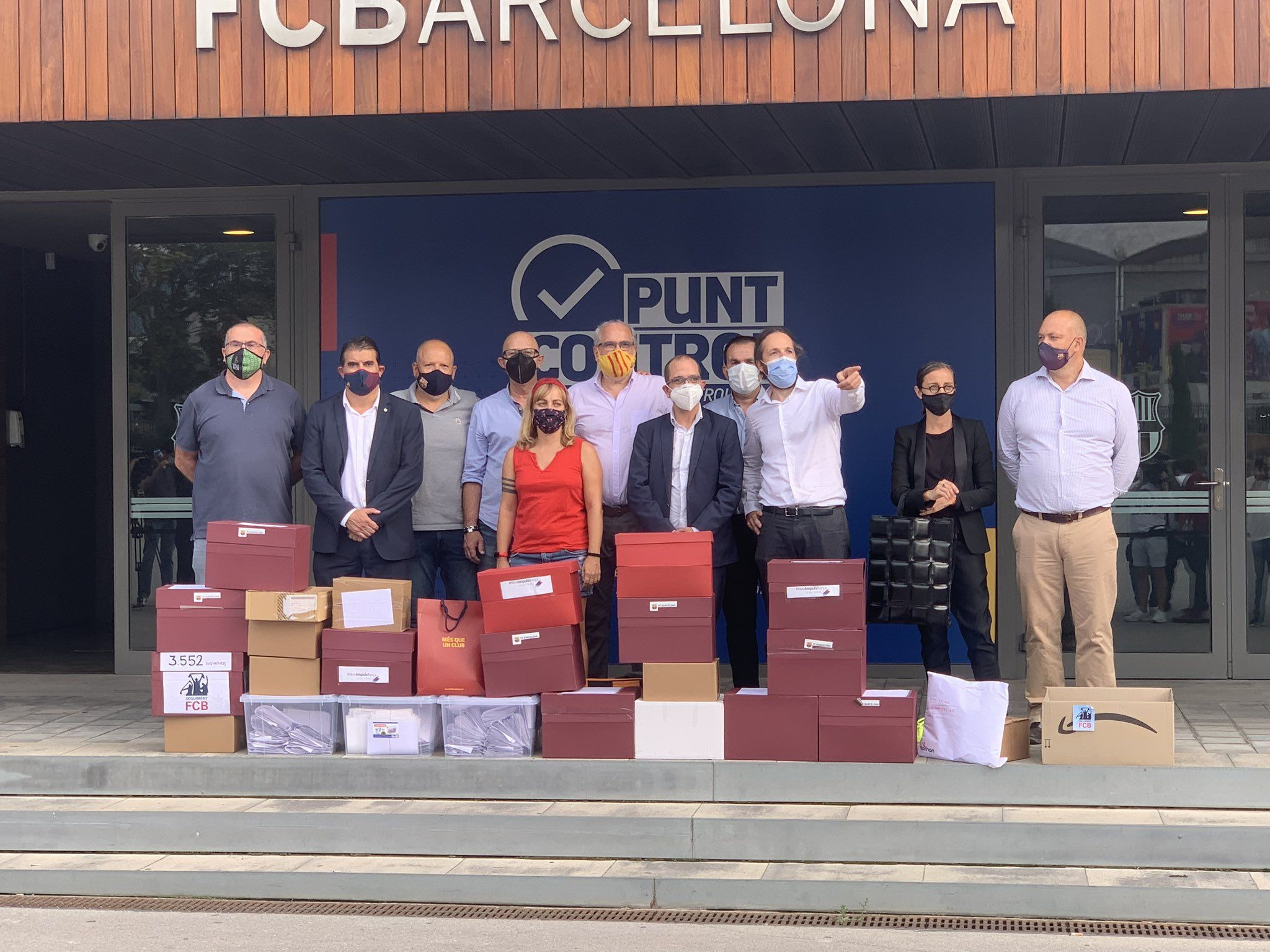 Els promotors del vot de censura a Josep Maria Bartomeu   @JordifarreFcb