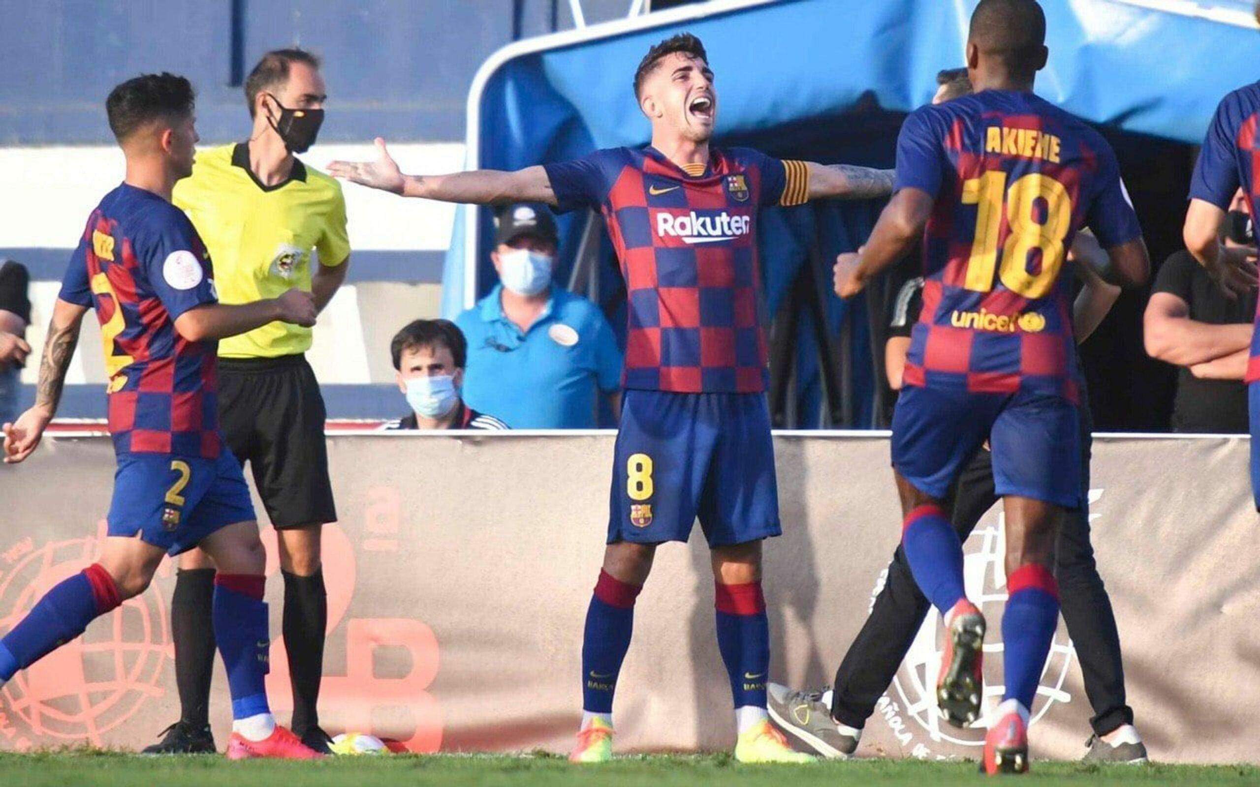 Monchu celebra un gol | FC Barcelona