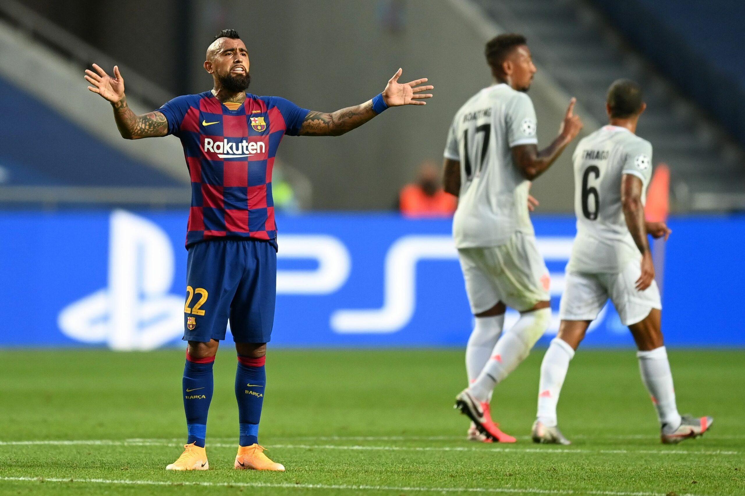 Arturo Vidal, durant el partit contra el Bayern | Europa Press.