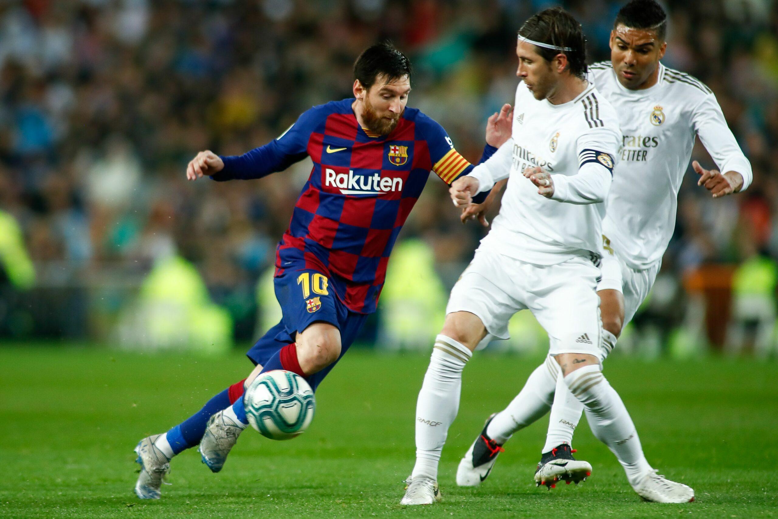 Messi i Ramos, durant l'últim clàssic   Europa Press