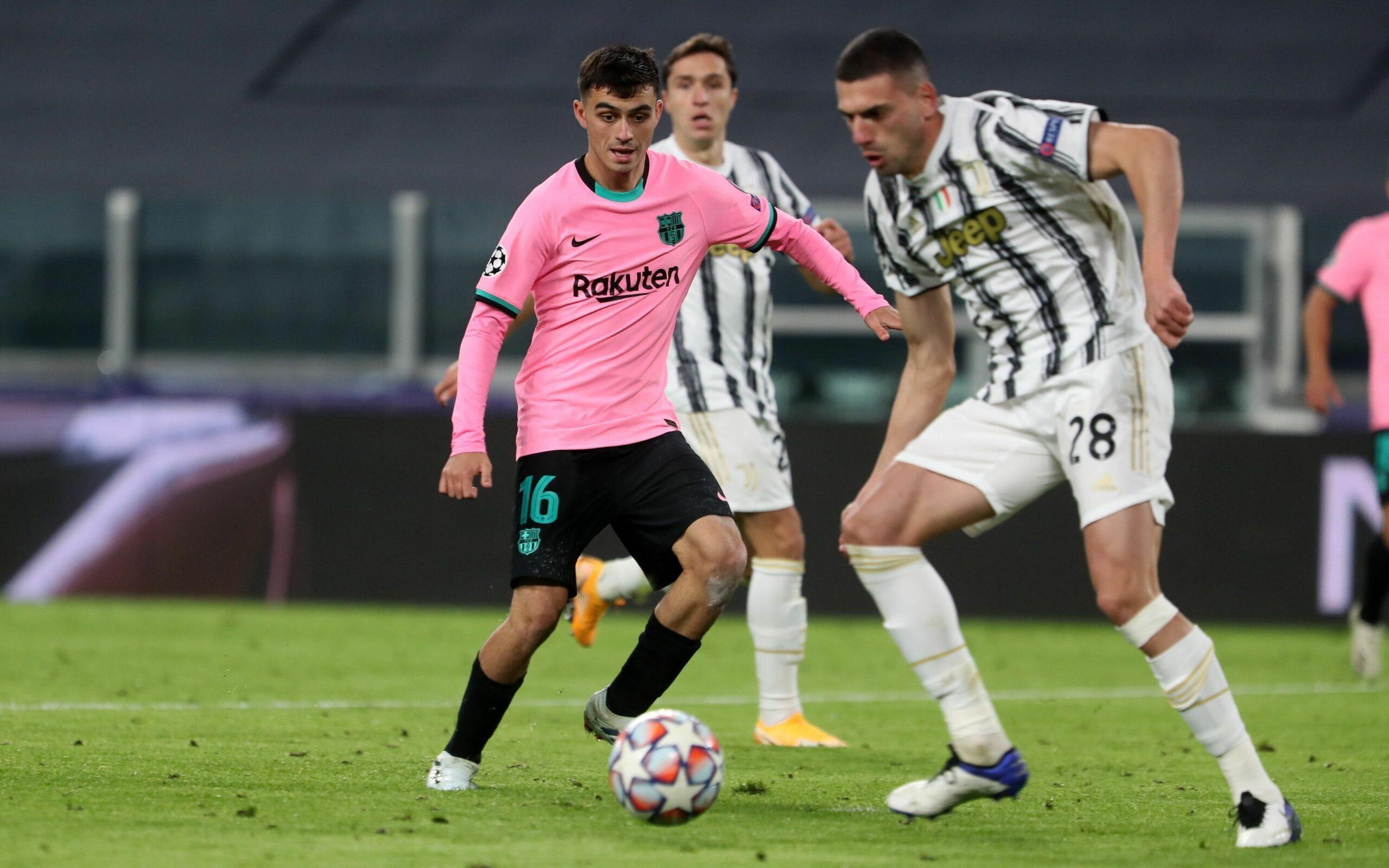 Pedri, durant el partit contra la Juventus | FC Barcelona