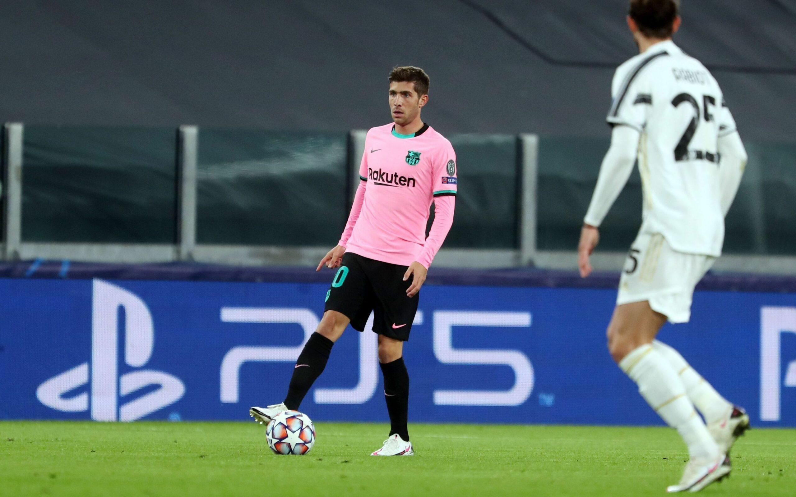 Sergi Roberto, durant el partit contra la Juventus   FC Barcelona