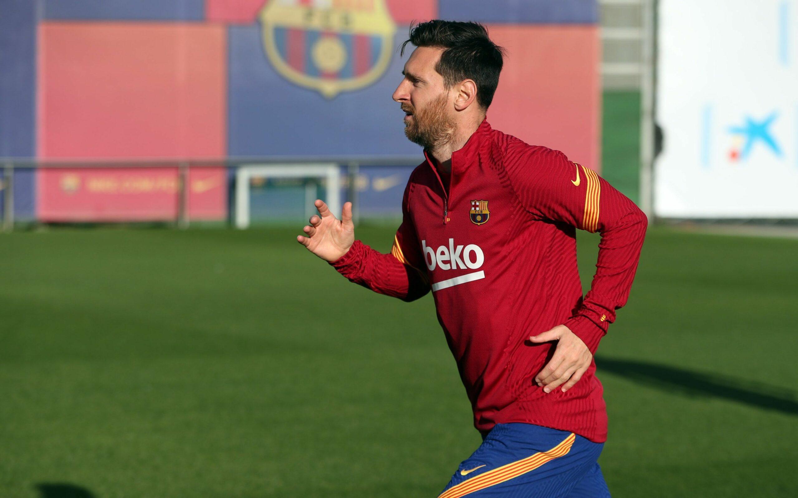 Leo Messi, durant un entrenament   FC Barcelona