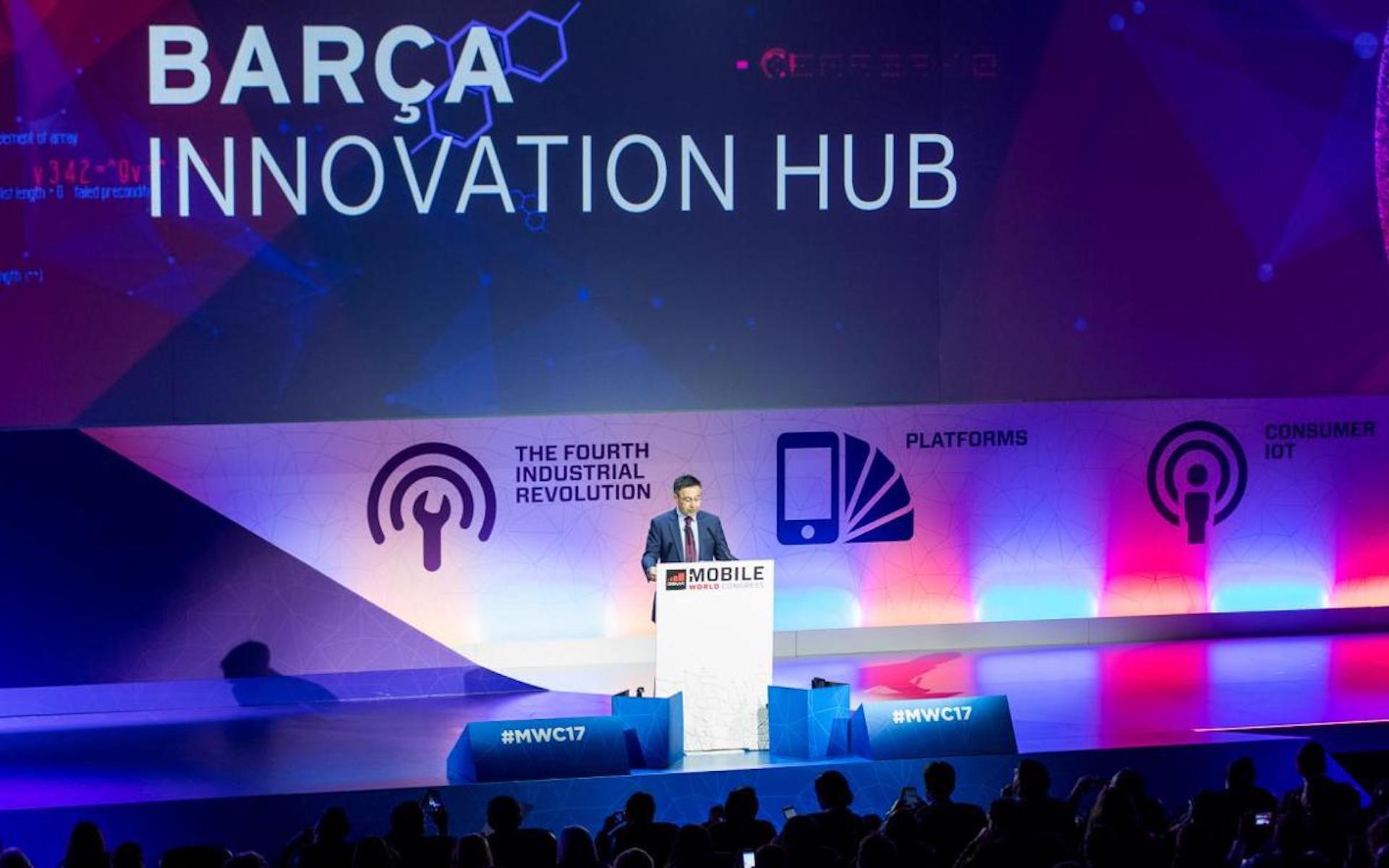 Josep Maria Bartomeu, durant un acte del 'Barça Innovation Hub' | FC Barcelona