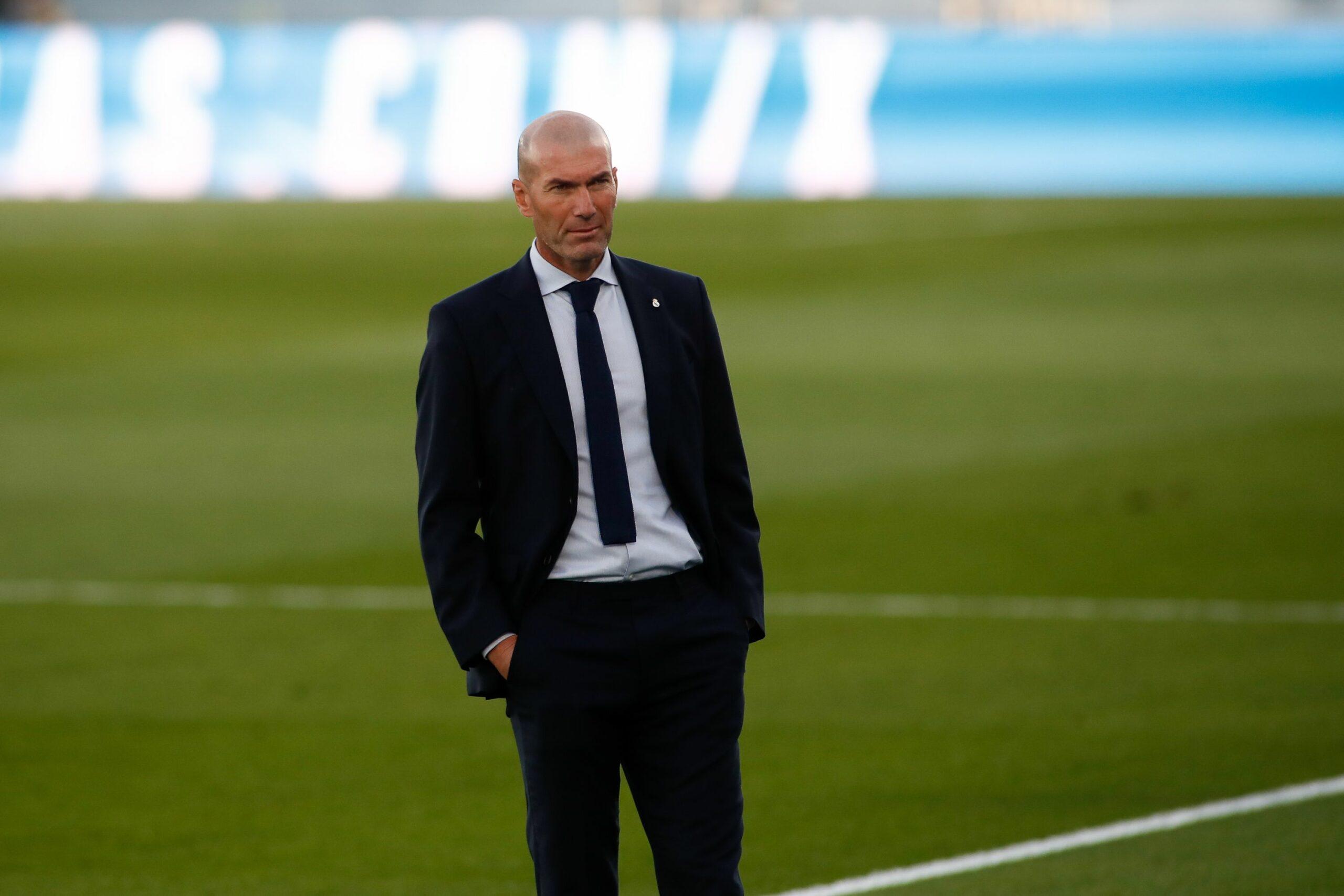 Zidane, entrenador del Madrid, durant un partit | Europa Press