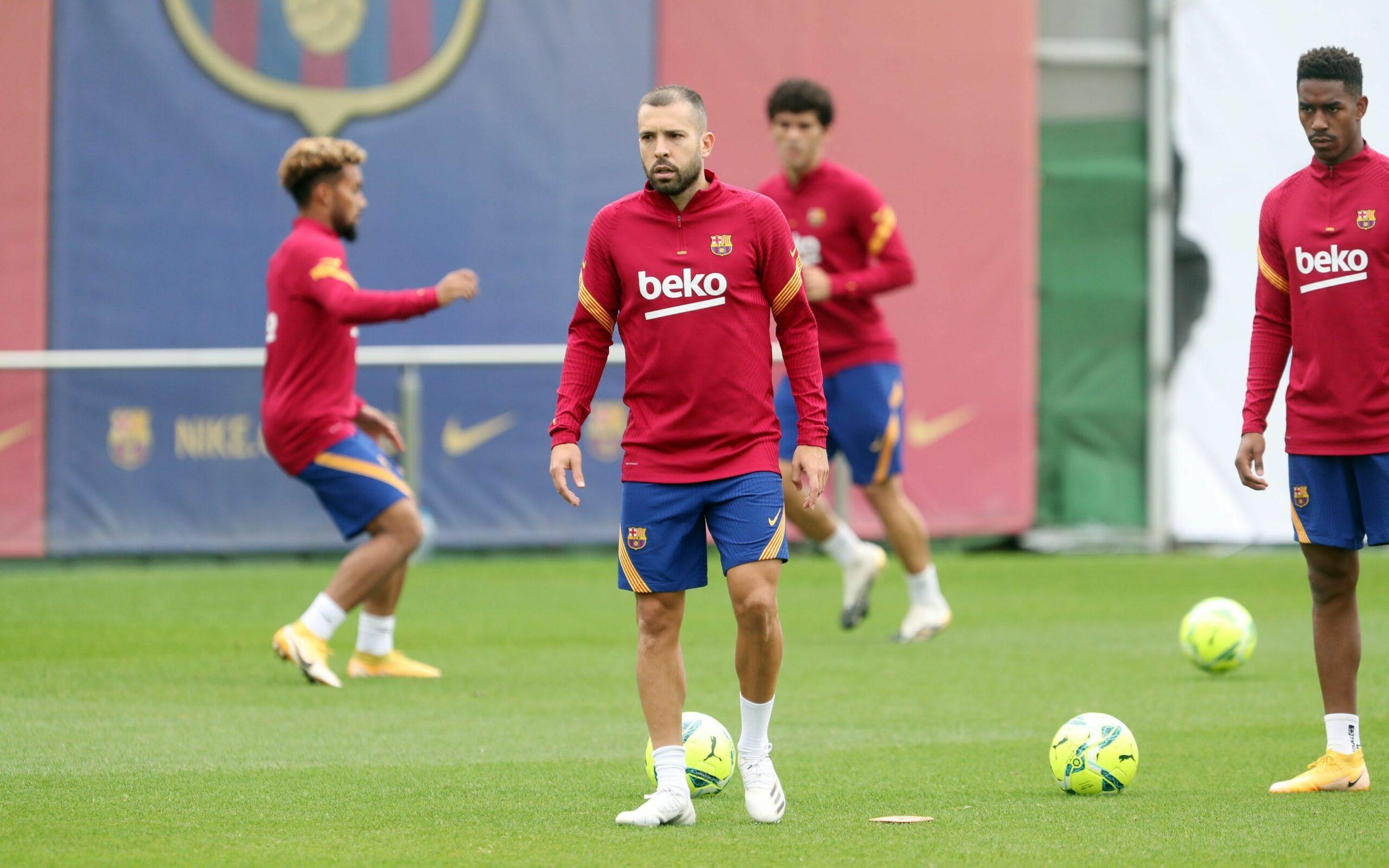 Jordi Alba, durant un entrenament | FC Barcelona