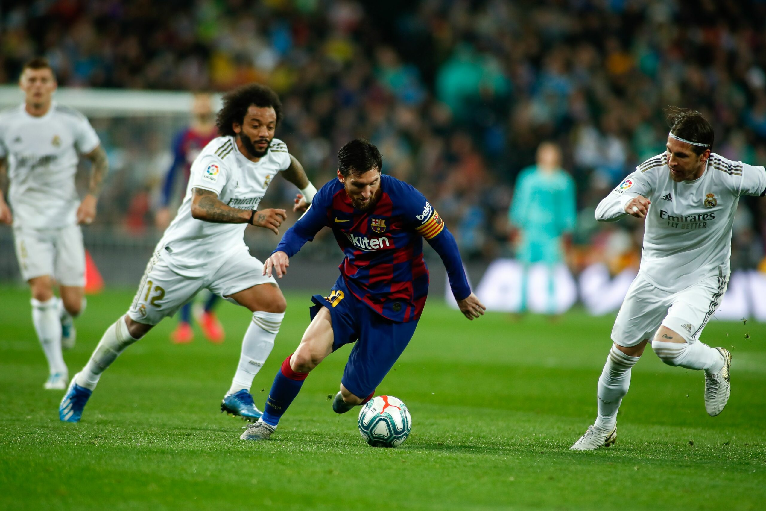 Messi, Ramos i Marcelo, durant un clàssic | Europa Press