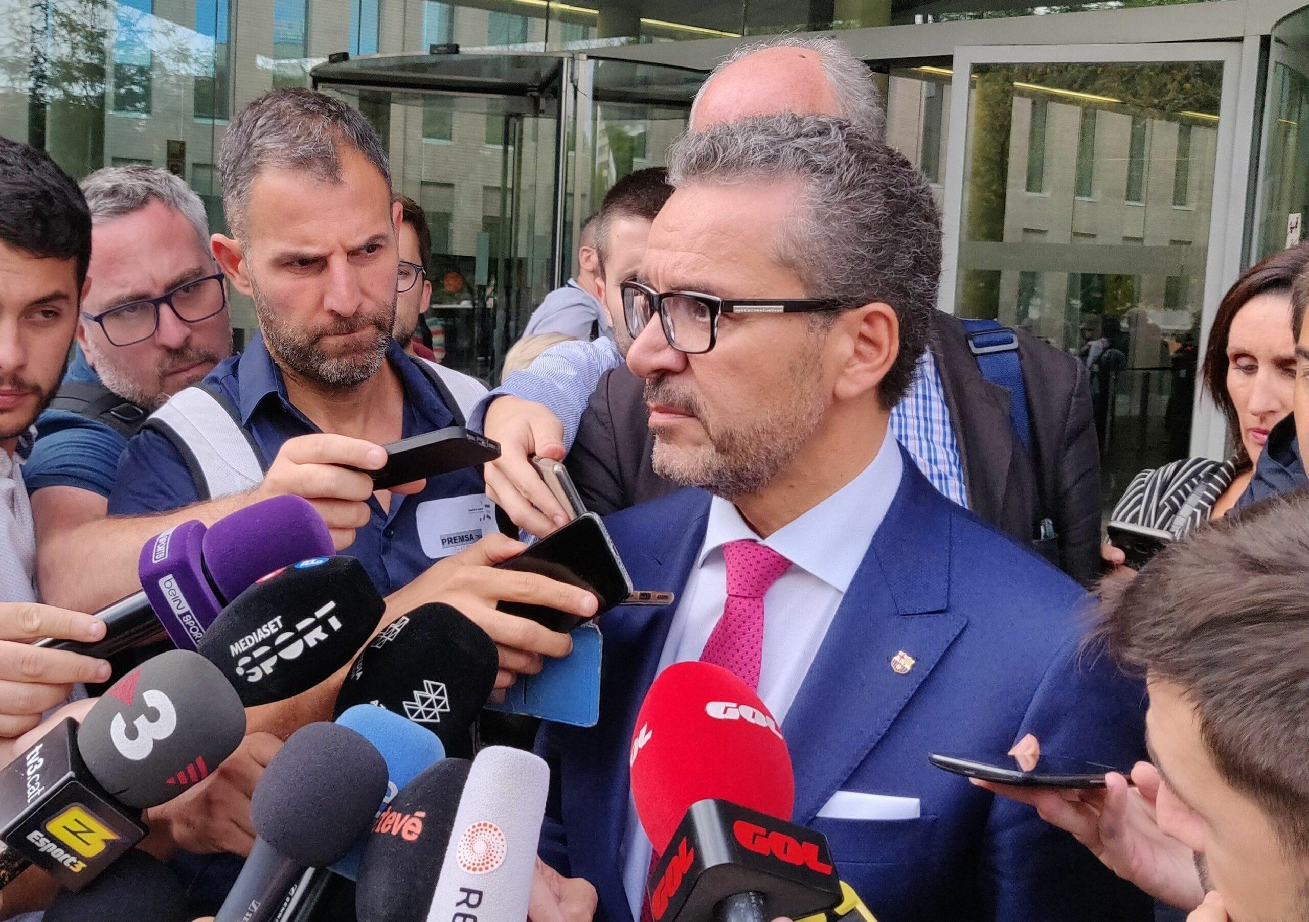 Josep Vives, a la sortida del judici entre Neymar i el Barça | Europa Press