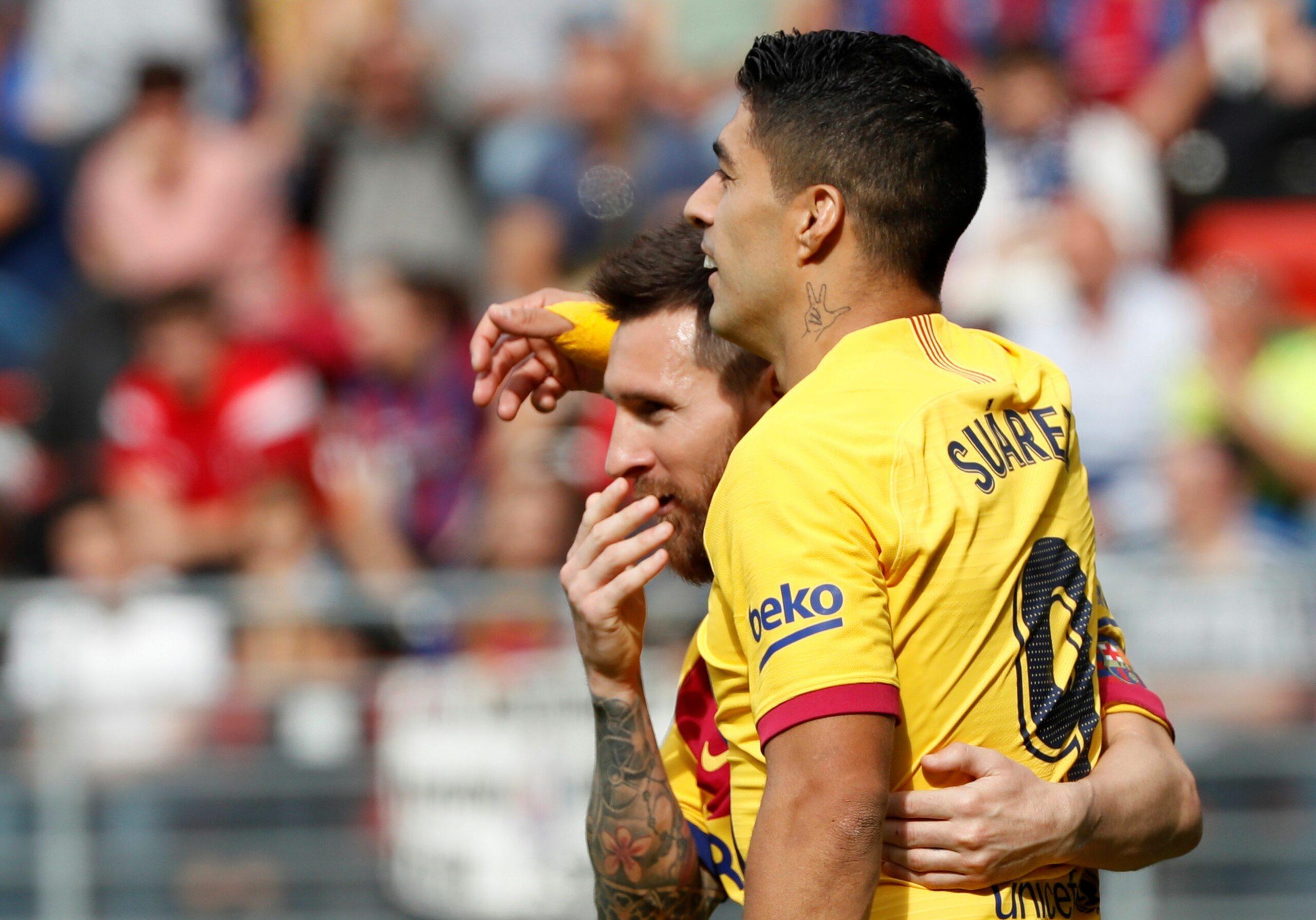 Messi i Suárez, durant el partit contra l'Eibar | EFE