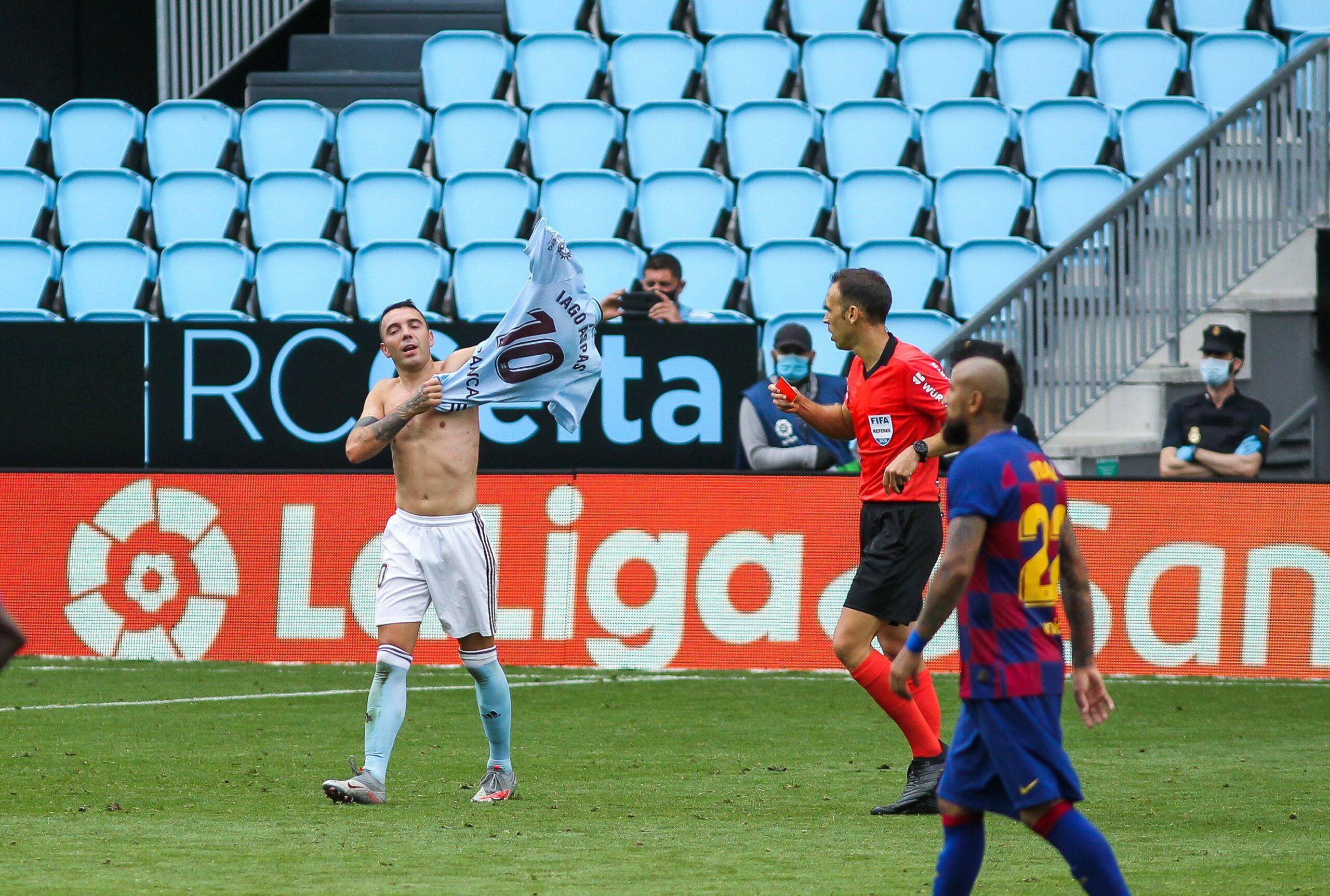 Iago Aspas celebra un gol contra el Barça | Europa Press