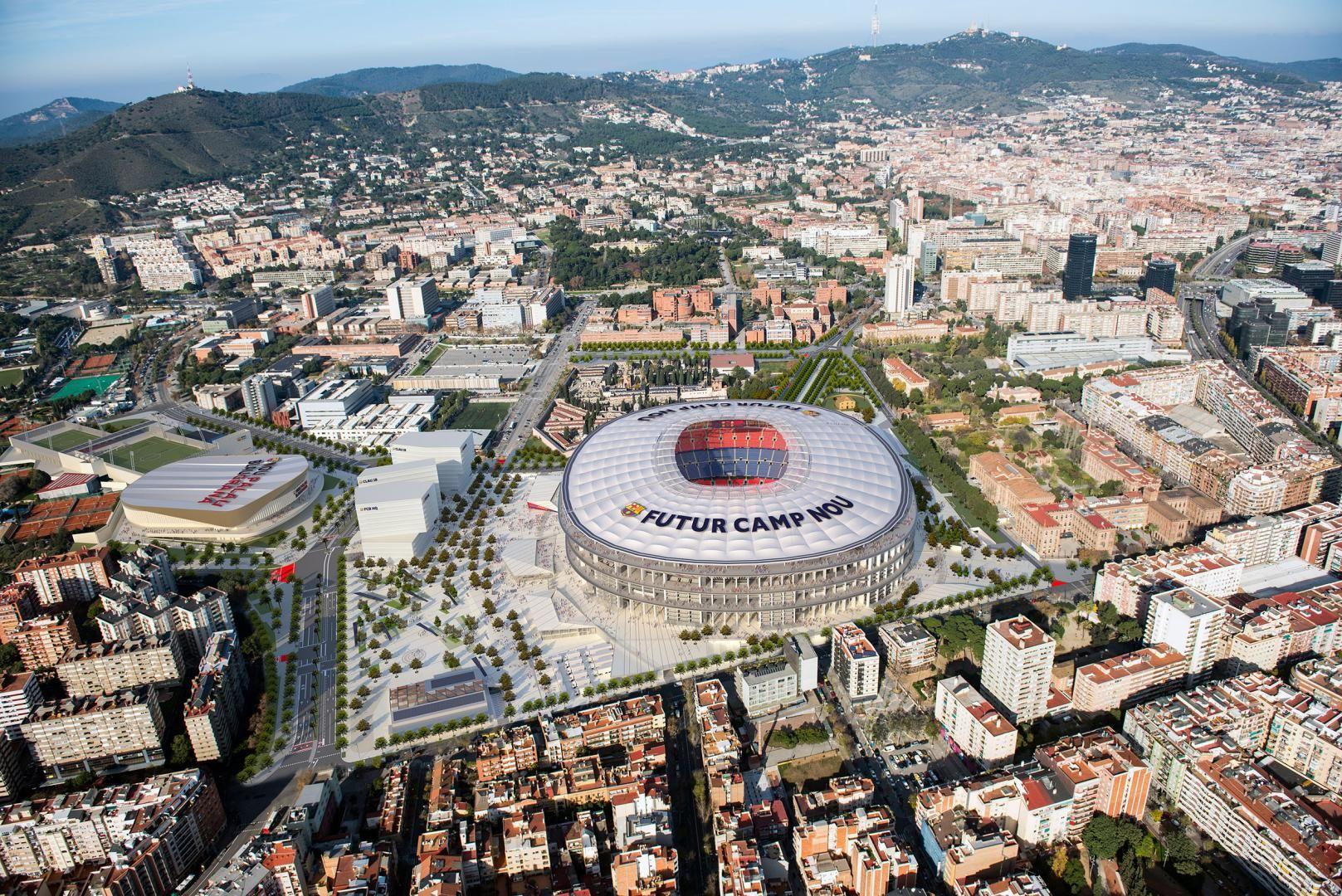 Imatge aèria de l'Espai Barça |FC Barcelona